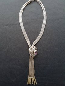 Halsketting exclusief 20g silver necklace with purple gemstone aloadofball Image collections
